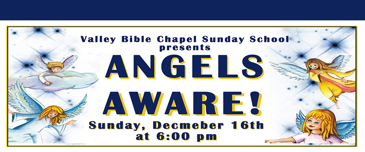 Angels Aware Poster. yellow border